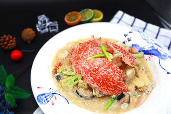 桂花炒蟹块